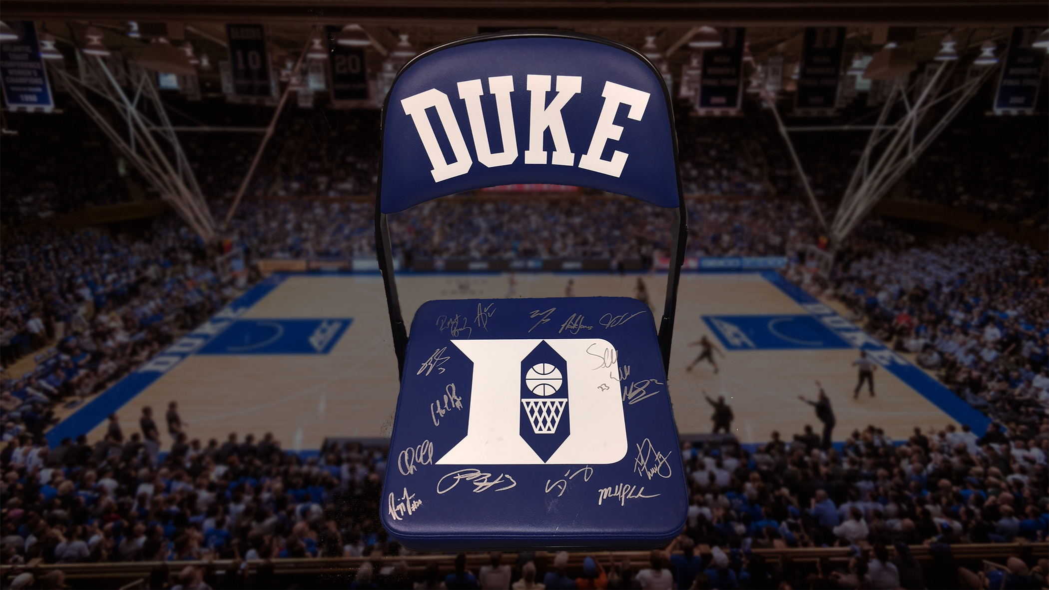 Groovy Featured Auction Item Autographed Duke Bench Chair Duke Gmtry Best Dining Table And Chair Ideas Images Gmtryco