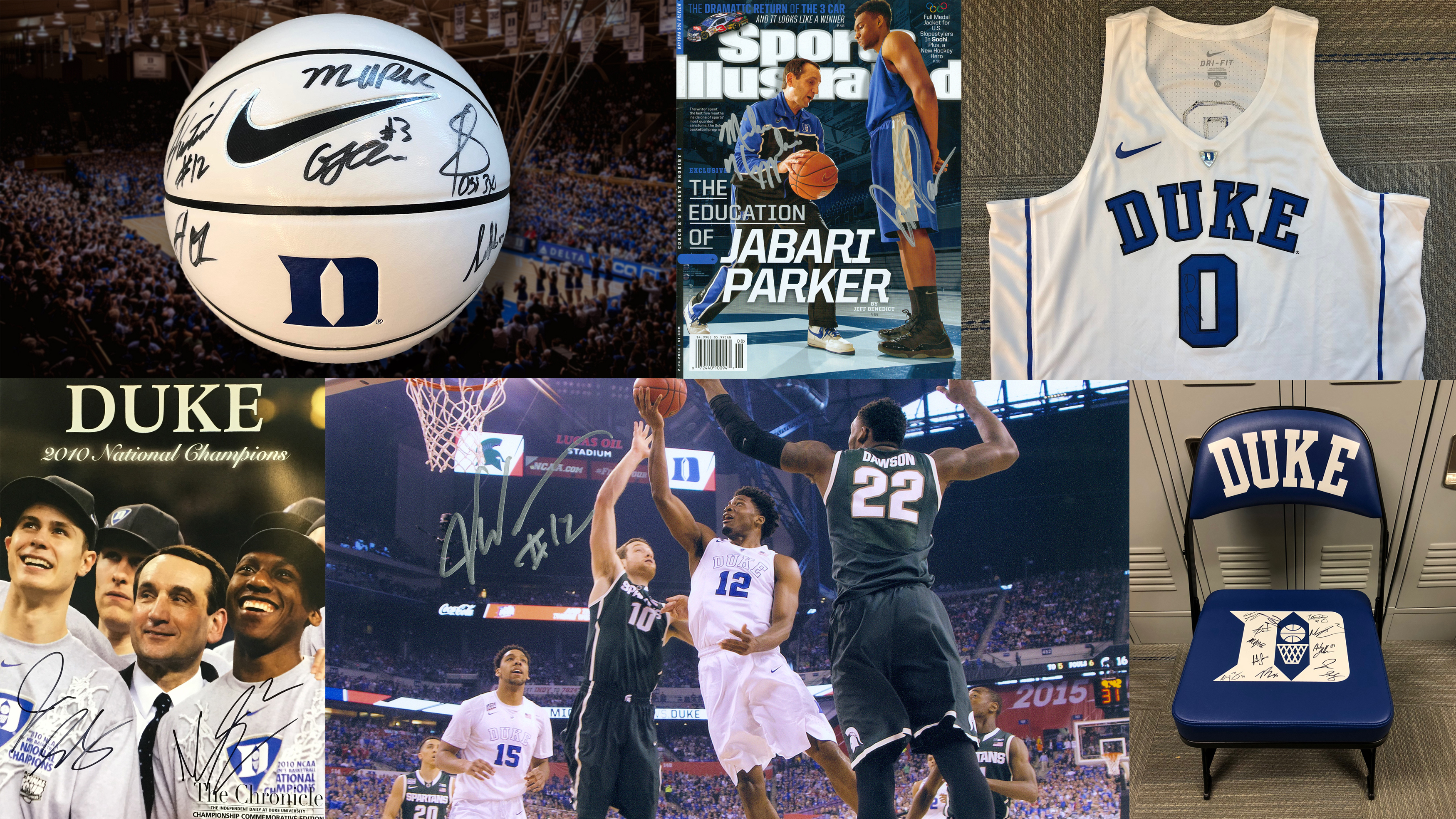 Enjoyable Featured Auction Item Autographed Duke Bench Chair Duke Gmtry Best Dining Table And Chair Ideas Images Gmtryco